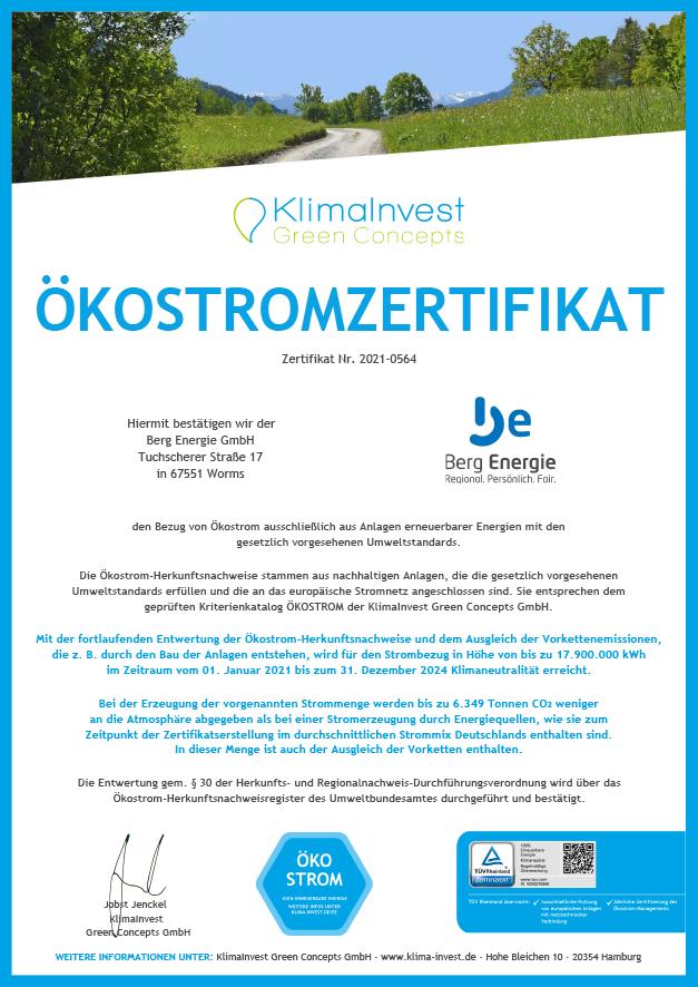 Berg Energie GmbH 2021-2024 I Naturstrom